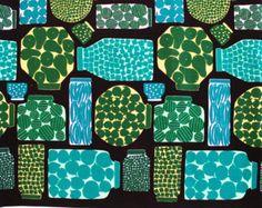Marimekko fabric, Pieni Purnukka green, by Erja Hirvi, 145x50cm