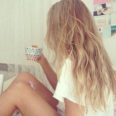 messy beach waves #hair #waves #curls #beach #hairstyle #fashion