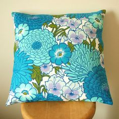 Vintage fabric cushion cover by Pouch