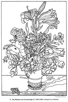 color your own great flower paintings coloring book dover publications - Unique Coloring Books