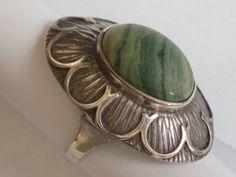 Srebrny pierścionek z ziel. Rings N Things, Hippie Outfits, Signet Ring, Handmade Silver, Indian Jewelry, Band Rings, Cups, Gemstone Rings, Silver Rings