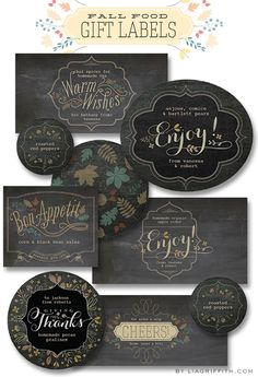 Worldlabel.com Free Printable Labels for Your Fall Food Gifts by Lia Griffith