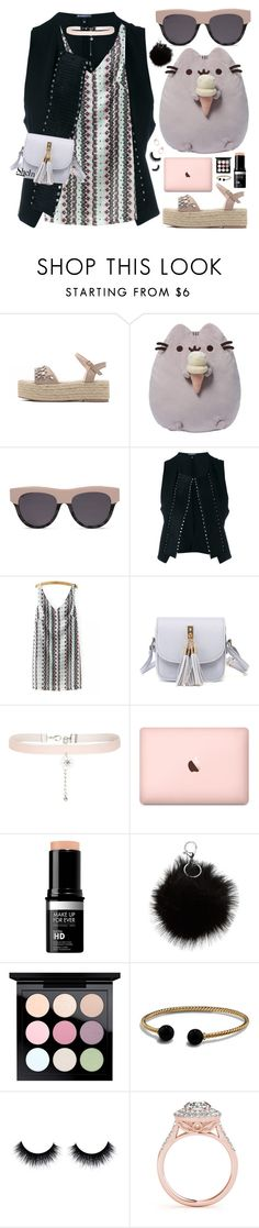 """""""Happy Weekend"""" by pastelneon ❤ liked on Polyvore featuring Gund, STELLA McCARTNEY, Ann Demeulemeester, New Look, MAC Cosmetics and David Yurman"""
