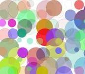 translucent layer of circles