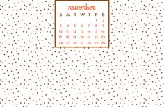 november desktop calendar #freedownload