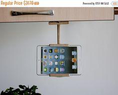 SALE 17% OFF Holidays Kitchen tablet holder, Holidays Christmas gift, ipad stand, kitchen tablet stand, wood book stand, kitchen accessorie,