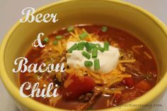 Beer and bacon chili