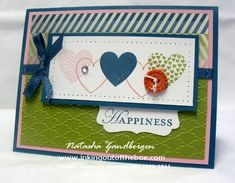 Hearts a Flutter club card by Natasha Zandbergen - Cards and Paper Crafts at Splitcoaststampers