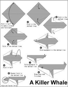 Origami killer whale diagram