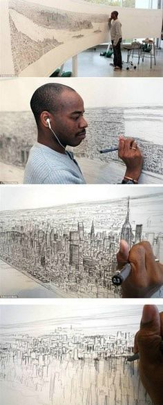 """Stephen Wiltshire MBE, Hon.FSAI., is a British architectural artist who has been diagnosed with autism. He is known for his ability to draw from memory a landscape after seeing it just once. His work has gained worldwide popularity.""  Source:  Wikipedia"