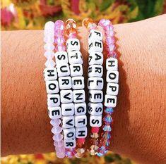 Personalized Saying Alphabet Bead Word Kandi Bracelets - personalized words bracelets beads word bracelets funny alphabet bracelets friendship jewelries - Bracelets Diy, Pony Bead Bracelets, Homemade Bracelets, Kandi Bracelets, Summer Bracelets, Word Bracelets, Colorful Bracelets, Gemstone Bracelets, Alphabet Beads