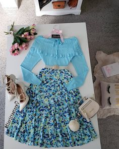 🤗☁️💕💕💕 you can find similar pins below. We have brought the best of the foll. Pretty Outfits, Beautiful Outfits, Cute Outfits, Formal Dresses For Teens, Stylish Dresses, Modest Fashion, Fashion Dresses, Vintage Dresses, Vintage Outfits