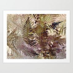 Under the fern-tufts Art Print - Slievecarran Nature Reserve, Burren, Co.
