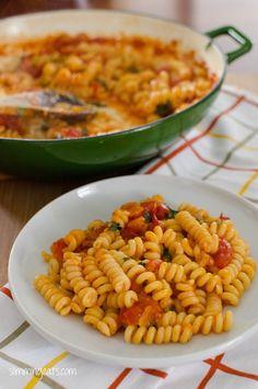 Cheesy tomato pasta