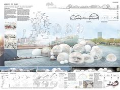 Super Ideas for landscape design competition poster Architecture Concept Drawings, Architecture Panel, Architecture Design, Presentation Board Design, Architecture Presentation Board, Architectural Presentation, House Sketch Design, Layout Design, Circular Buildings