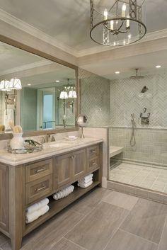 Finest small bathroom shower curtain ideas to refresh your home - Modern Bathroom Renos, Bathroom Shower Curtains, Bathroom Renovations, Master Bathroom, Master Bedrooms, Beach House Bathroom, Bathroom Wallpaper Beach, Wood Tile Bathroom Floor, Beach House Kitchens