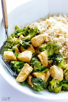12-Minute Chicken and Broccoli {Gimme Some Oven}