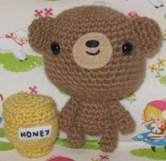 Use up scrap yarn to make the cutest little amigurumi teddy bear.