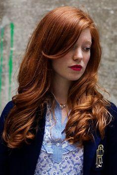 Red hair love.