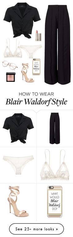 """""""I'm not sure why but I'm super obsessed with this look."""" by forevera-dreamer on Polyvore featuring La Perla, Hallhuber, Miss Selfridge, Hanky Panky, Giuseppe Zanotti, Ilia, Casetify and Bobbi Brown Cosmetics"""