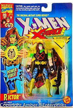 1994 - Toy Biz / Marvel Comics - X-Men X-Force - Mutant Super Hero Rictor Action Figure - 5 Inches - @ niftywarehouse.com
