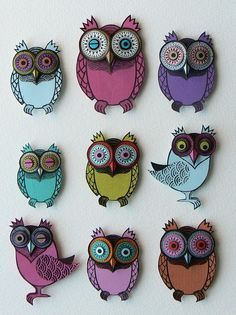 The Usual Suspects by Helen Musselwhite - papercut owls