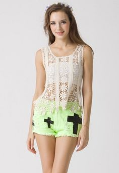 #Chicwish Floral Crochet Tunic