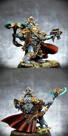 CoolMiniOrNot - Space Wolves Krom Dragongaze by Figurine Warhammer, Warhammer 40k Figures, Warhammer Models, Warhammer Art, Warhammer 40k Miniatures, Warhammer Fantasy, Warhammer 40000, Chaos Daemons, Warhammer 40k Space Wolves