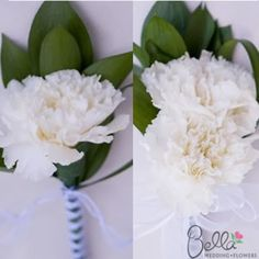 White Carnations: Boutonnieres or Corsages  any combo of corsage/bout - $155, 30 for 235