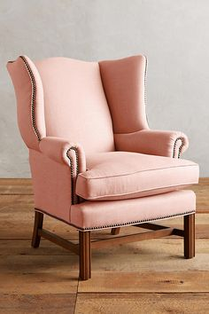 Cozy Chair, Couch Furniture, Wingback Chair, Accent Chairs, Comfy, Table, Anthropologie, Home Decor, Pink