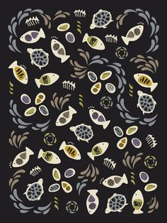 Fish Tales - Pattern Design by Poppy & Red