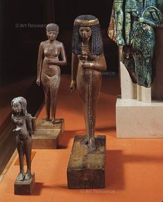 Statuette of a Priestess, Wood, New Kingdom, Dynasty, BCE. Ancient Egyptian Art, Ancient Aliens, Ancient Greece, Ancient History, European History, Amenhotep Iii, Art Afro, Kemet Egypt, Old Egypt