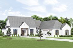 Contemporary Farmhouse Plan with Screened Porch – Porch Plans, Shed Plans, New House Plans, Dream House Plans, Welcome To My House, House With Porch, Farmhouse Plans, Modern Farmhouse, Architecture Design