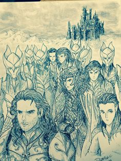 Beren, Finrod and his warriors on their quest for the Silmaril by DracarysDrekkar7
