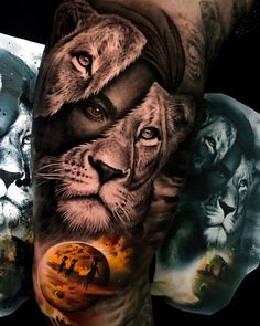 [New] The 10 Best Tattoo Ideas Today (with Pictures) - Absolutely amazing . - My list of the most creative tattoo models Lion Head Tattoos, Arm Tattoos, Body Art Tattoos, Sleeve Tattoos, Cool Tattoos, Amazing Tattoos, Tattoo Ink, Small Tattoos, Afrika Tattoos