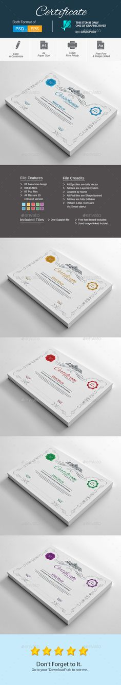 Certify - Award Certificates Certificate, Certificate design and - corporate certificate template