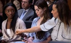 Simone Biles offered emotional testimony on Tuesday at a US senate hearing into the Larry Nassar abuse scandal Simone Biles, Larry, Team Usa Gymnastics, Olympic Gymnastics, Blind Eyes, Olympic Committee, Olympic Team, Young Gymnast, John Cornyn