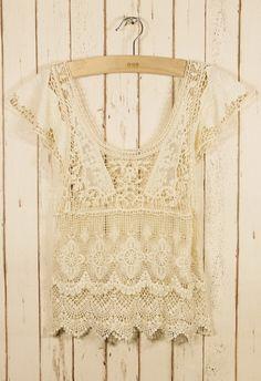 Retro Crochet Top - Retro, Indie and Unique Fashion