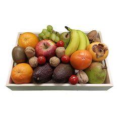 Quality Fruit Baskets. Fruitmand. Kistje fruit  2x Sinaasappel  2x peer  2x Avocado  2x Kaki  3x banaan  1x Appel  1x Kiwi  1x Druiven  1x Kistje