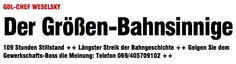 #zum bahnstreik
