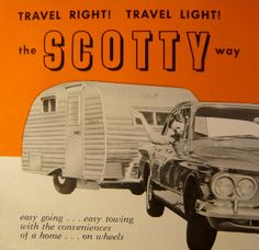 Would be cute framed Vintage Rv, Vintage Caravans, Vintage Travel Trailers, Vintage Campers, Scotty Camper, Serro Scotty, Travel Trailer Living, Travel Trailer Camping, Canned Ham Camper