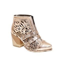 Fab.com | Max-Met Ankle Boot Rosegold