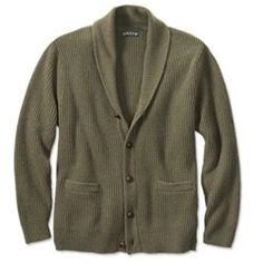 This men's wool sweater keeps you warm. The shawl collar of our men's wool sweater offers distinctive looks; Mens Shawl Collar Cardigan, Wool Cardigan, Polo Sweater, Men Sweater, Formal Sweater, Formal Men Outfit, Fishing Outfits, Sweater Making, Cardigan Fashion