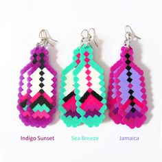 8-Bit Feather Fantasy Earrings (More Colors) by Beyond Buckskin Boutique