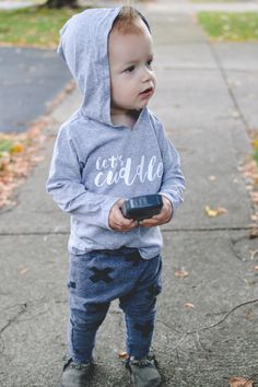 Let's Cuddle Kid Hooded Pullover