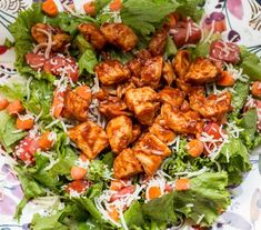 According to the Weight Watchers Recipe Builder, this recipe is 7 SmartPoints per serving. Ingredients 1 lb chicken breast cubed olive oil spray salt and pepper 1/2 cup BBQ Sauce 1/4 cup reduced fat cheese shredded 2 Tablespoons light Ranch dressing tomatoes chopped cucumbers chopped carrots chopped (optional) lettuce rinsed and chopped Instructions In a …