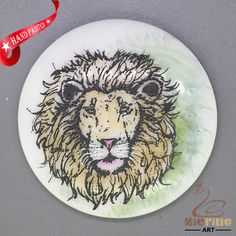 CHARMING FRIDGE MAGNET LION WALL DECOR DIY WHITE STONE ZR3000250 #ZL #FridgeMagnet