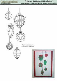Iris Folding Patterns Free Printables   Christmas Baubles Iris Folding Pattern