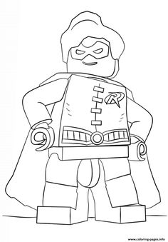 Lego Batman Robin Coloring Pages Printable And Book To Print For Free Find More Online Kids Adults Of