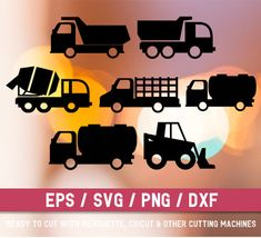 Construction svg file Trucks svg file Construction truck